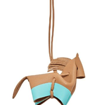 Fossil Bag Charm Horse Tan