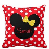 Personalized Handmade Nursery Minnie Mouse Pillow - Whimsical & Unique Gift Ideas for the Coolest Gift Givers