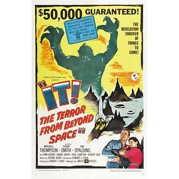 It The Terror From Beyond Space Movie poster Metal Sign Wall Art 8in x 12in