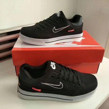 """""""Nike"""" Unisex Casual Fashion Embroidery Canvas Plate Shoes Couple Skateboard Shoes Sneakers"""