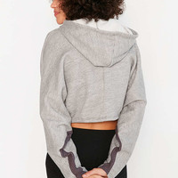 Project Social T Justin Cinched Cropped Hoodie Tee - Urban Outfitters