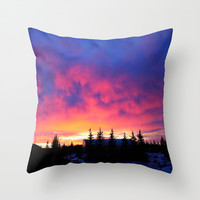Candy Skies at the Farm Throw Pillow by 2sweet4words Designs