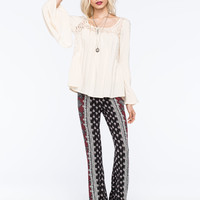 FULL TILT Paisley Print Womens Flare Pants | Pretty Peasant