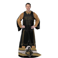 Purdue Boilermakers NCAA Adult Uniform Comfy Throw Blanket w- Sleeves