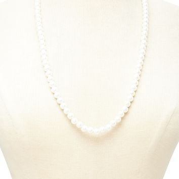 Faux Pearl Longline Necklace