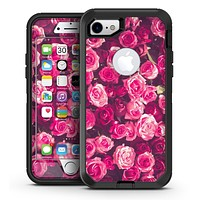 Vibrant Pink Vintage Rose Field - iPhone 7 or 7 Plus OtterBox Defender Case Skin Decal Kit