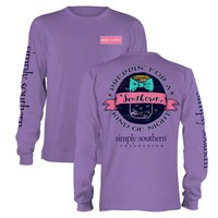 Simply Southern Preppy Collection Firefly Long Sleeve Tee LS-PRPFIREFLY-AMETHYST