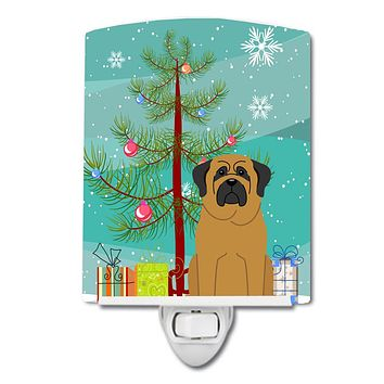 Merry Christmas Tree Mastiff Ceramic Night Light BB4143CNL