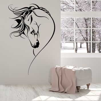 Vinyl Wall Decal Horse Head Pet Animal Girl Room Decor Stickers Unique Gift (1607ig)