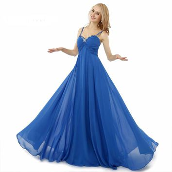 Fashion Long Prom Dresses With Bow Appliques Chiffon Latest Design Prom Woman Gown