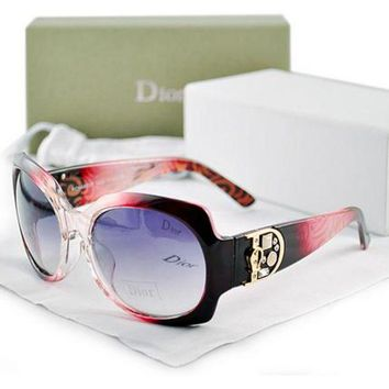 Dior Ladies Delicate Leisure Sun Shades Eyeglasses Glasses Gradient White Frame I