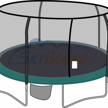 SkyBound 15 Foot Trampoline Net - Fits 15 Foot Frames with 5 Enclosure Poles and G3/G4 Top Ring