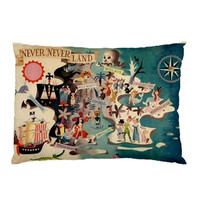 Neverland Peter Pan Pillow Cases (2 Cases)