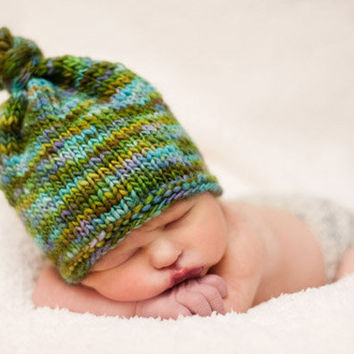 Knit Baby Hat Baby Girl Hats Baby Boy Hats  Knit by knoodleknits