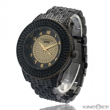 Mens Black Iced Out CZ Watch