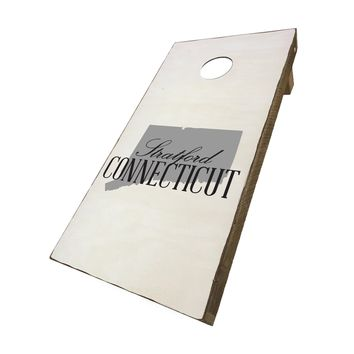 Stratford Connecticut with State Symbol | Corn Hole Game Set