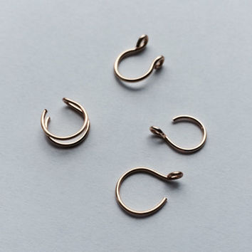 Try Me Set of Fake Piercings / Double Nose Ring / Tragus Ring / Septum Ring / Fake Body Jewelry