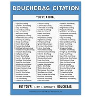 Douchebag Citation Nifty Note Pad - Put them in their Place! - Whimsical & Unique Gift Ideas for the Coolest Gift Givers