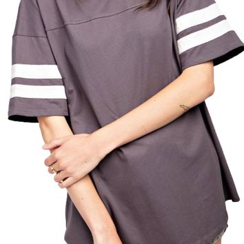 Easel Ash Athletic Sporty Boxy Top
