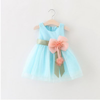 Kids Baby Girls Tutu Dresses 2017 Summer Baby Girl Baptism Dress First Birthday Baby Kids Clothes Infant Party Children Clothing