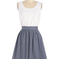 ModCloth Americana Sleeveless A-line Affectionate Gesture Dress