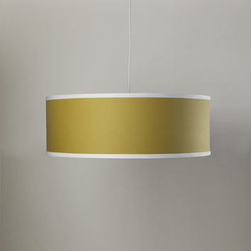 Solid Shallow Large Cylinder Lamp - Citron