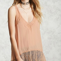 Lace Trim High-Low Top