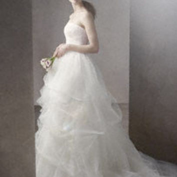 Ball Gown with Corded Lace Bodice and Tulle Skirt - David's Bridal
