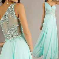 Long Bead Mint Prom Dress/Mini Homecoming Party Dress/Mint Peach Red Grey Navy Blue Graduation Dress/Sexy Cheap Bridesmaid Dres