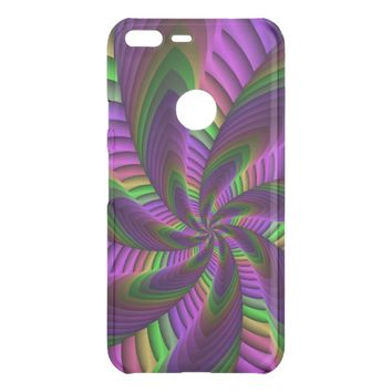 Neon Colors Flash Crazy Colorful Fractal Pattern Uncommon Google Pixel XL Case