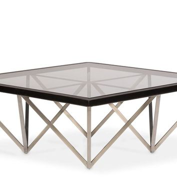 Karsen Cocktail Table Square Glass Top