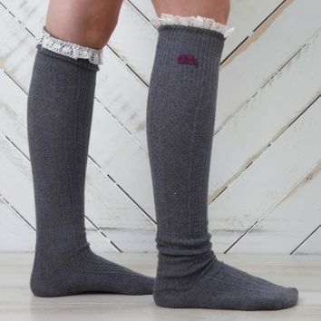 Lovely Lace Game Day Socks - Ole Miss | Altar'd State