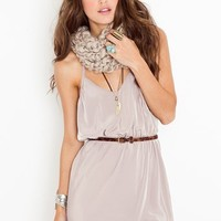 Racerback Wrap Dress - Taupe in Features Back In Stock at Nasty Gal