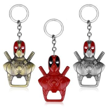 Deadpool Dead pool Taco Anime Jewelry  Keychain 2 Use Bar Beer Bottle Opener Key Chain Keyring Charms Chaveiro Ornaments Trinket Keychain AT_70_6