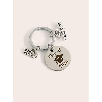 Letter & Number Charm Keychain