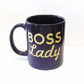Boss Lady Coffee Mug - Bosses Day Mug - Fun Sayings Mug - Kitchen and Dining - Home and Living - Drink and Barware - Mug - Cup - Coffee Mug