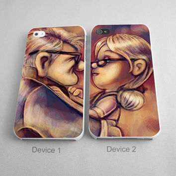 True Love Carl And Ellie Up Disney Couples Phone Case iPhone 4/4S, 5/5S, 5C Series - Hard Plastic, Rubber Case