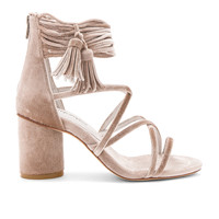 Jeffrey Campbell Despina Sandals in Champagne Velvet | REVOLVE