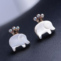 Cutie Crowned Elephant Earrings
