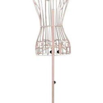 "Female Pink Steel Wire Mannequin Dress Form 32""22""32"" on Decorative Stand (0004 Pink)"