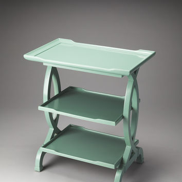 Kimiko Mint Crème Side Table by Butler Specialty Company 1570255