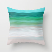 SEA-RENITY Throw Pillow by Catspaws | Society6