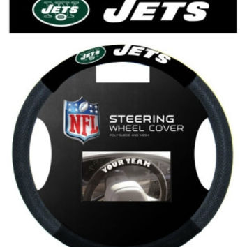 New York Jets Steering Wheel Cover - Mesh