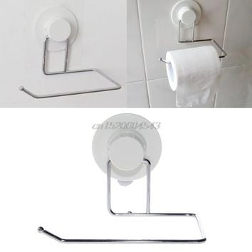 Toilet Paper Holder Bathroom Suction Hanger Tissue Rack Kitchen Towel Hook R06
