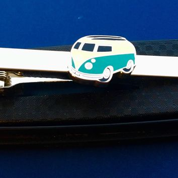 Peace Van Tie Bar~Camper Van Tie Clip~Mystery Machine~Handmade in the USA~FAST Shipping from the USA