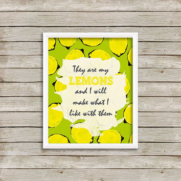 Lemon Art Print 8 x 10 INSTANT Digital Download Printable