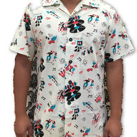 Mens Shirt in Atomic Vintage Festival print