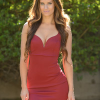 Deep Thoughts Dress - Burgundy