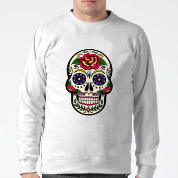 Sugar Skull mexican Sweater Man and Sweater Woman