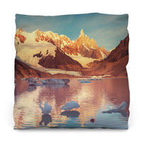 Cerro Torre in Patagonia Throw Pillow